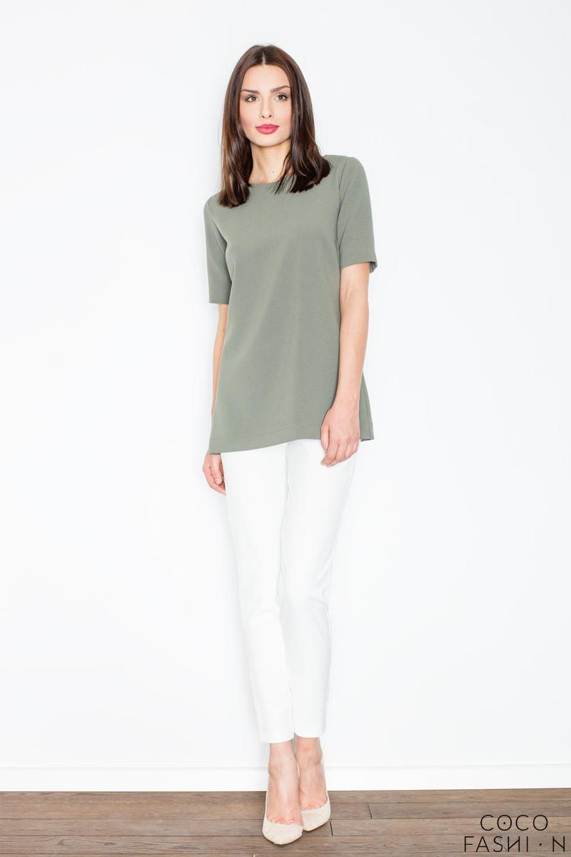 Green Elegant Cut-Out Back Blouse
