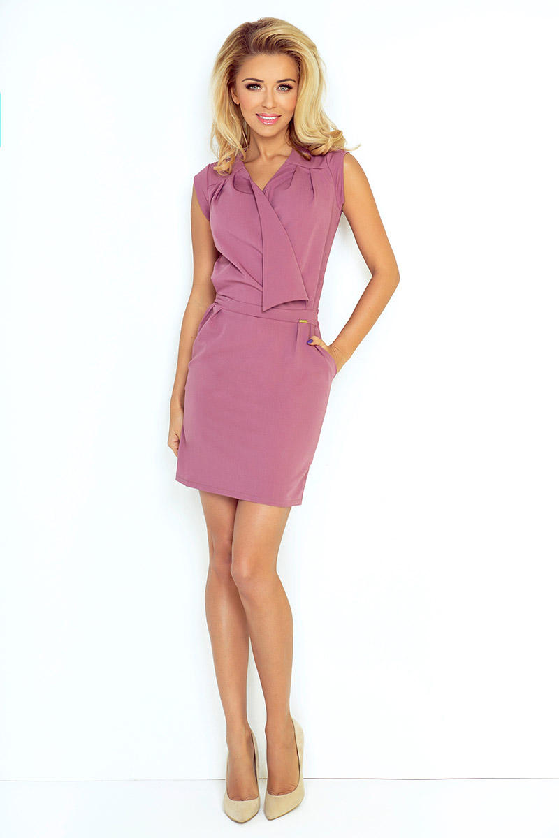 Mini dress with the assumed V-neckline Dirty Rose