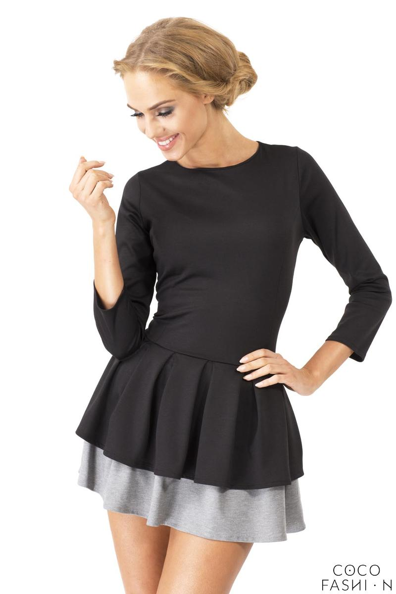 Black Cute Frilled Mini Dress