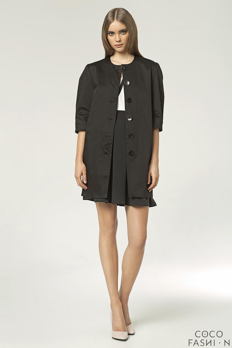 Black Appealing Dress Style Mac Blazer