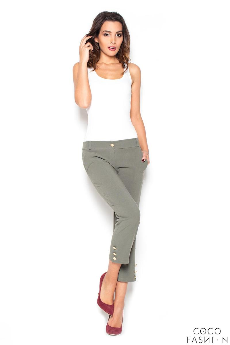 olive-green-78-simple-pencil-pants-with-glod-buttons
