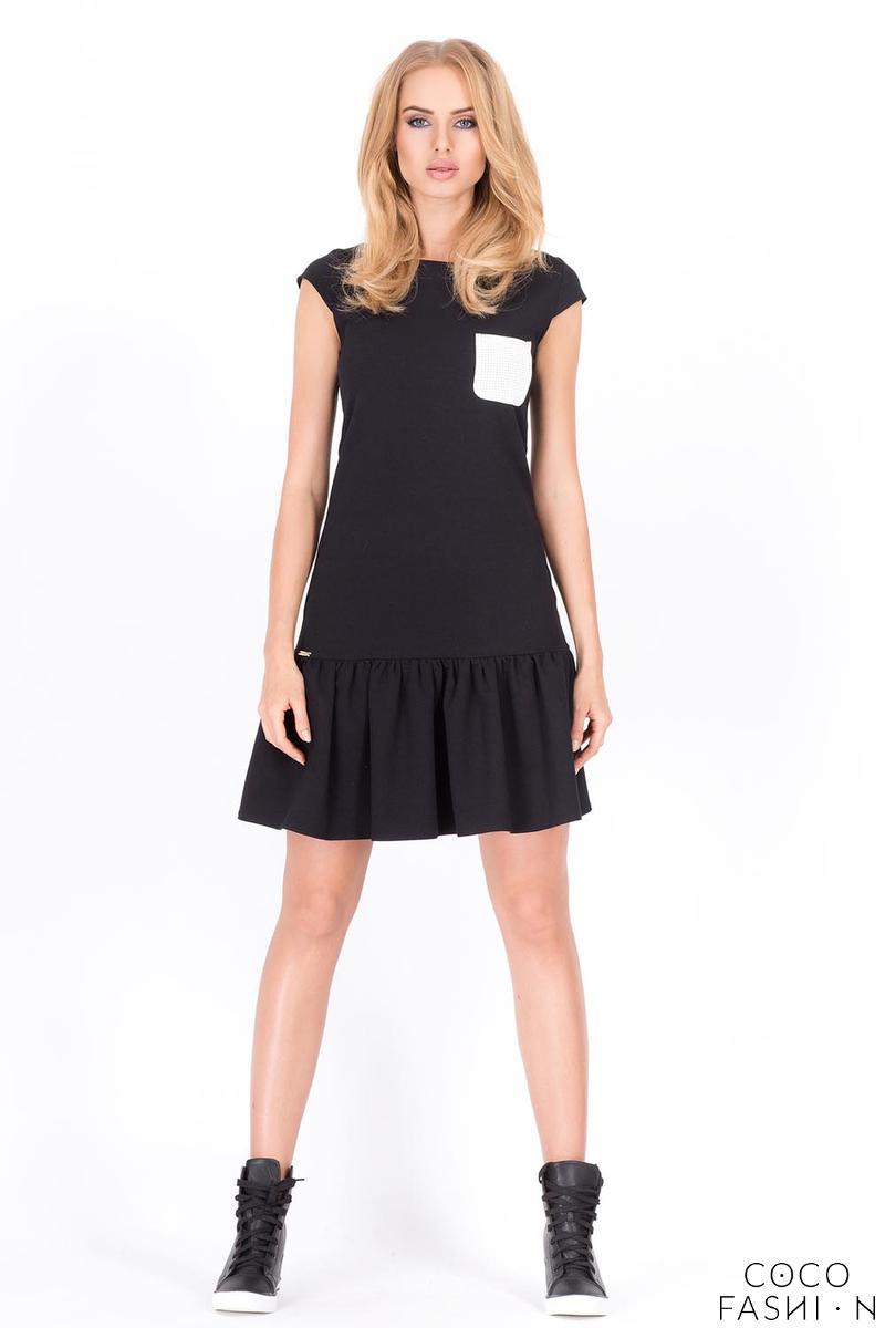 Black Summer Dress with Little Chest Pocket от cocofashion
