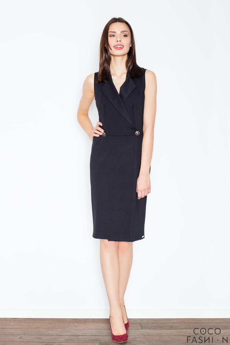 Black Knee Lenght Shirt Dress