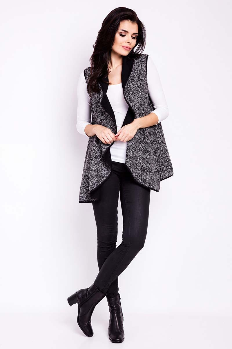 Black Vest Cape Jacket