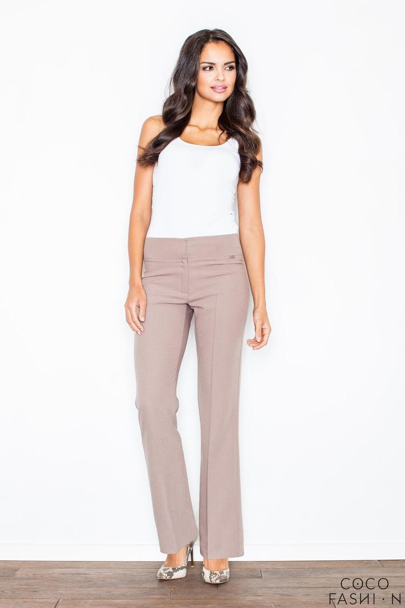 Brown Elegant High Waist Office Style Pants
