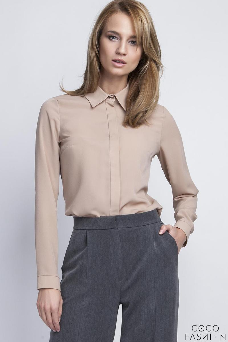 Mocca Brown Long Sleeves Classic Ladies Shirt