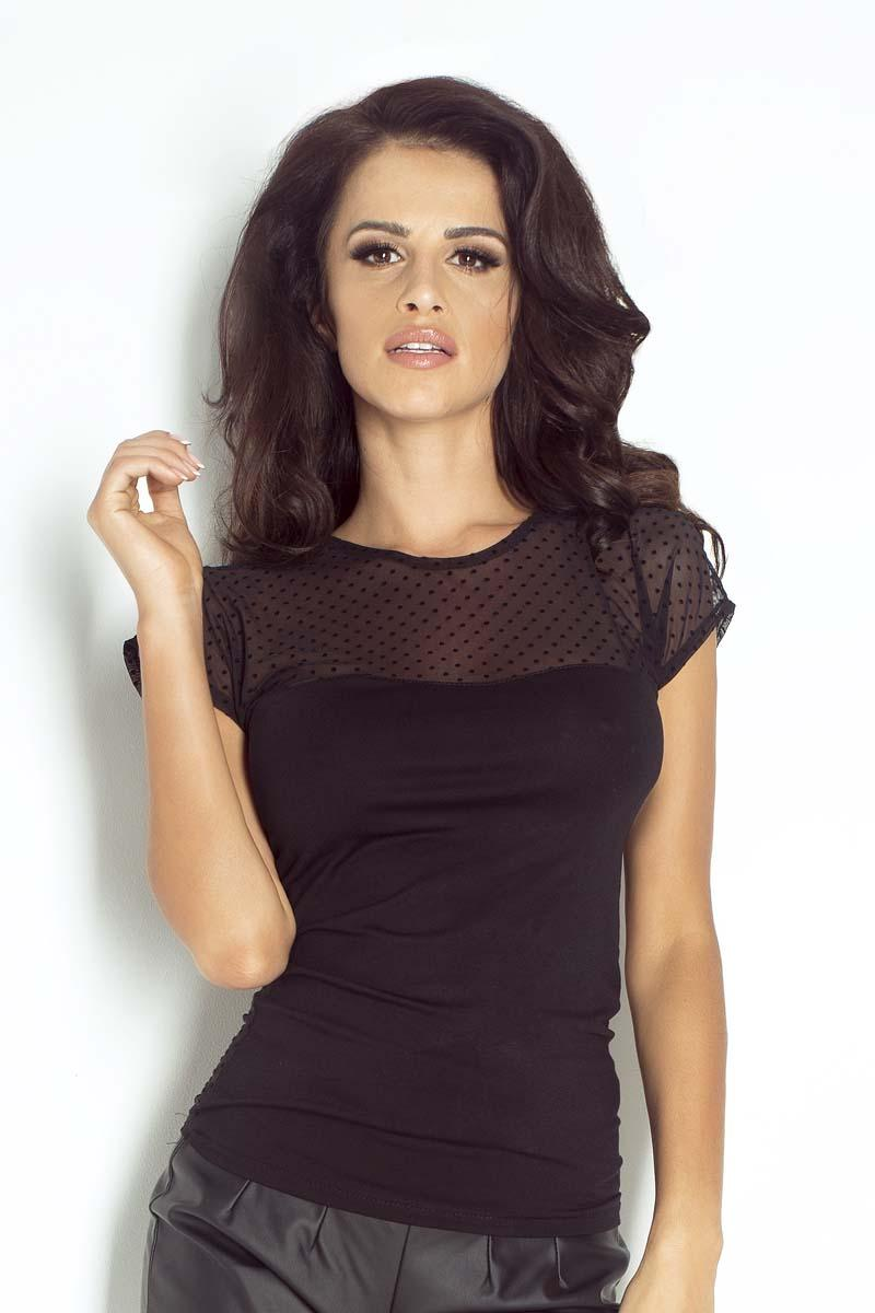 Black Transparent Top Bodycon Blouse