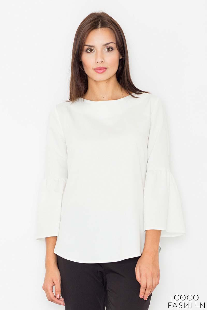 Ecru 3/4 Sleeves Blouse