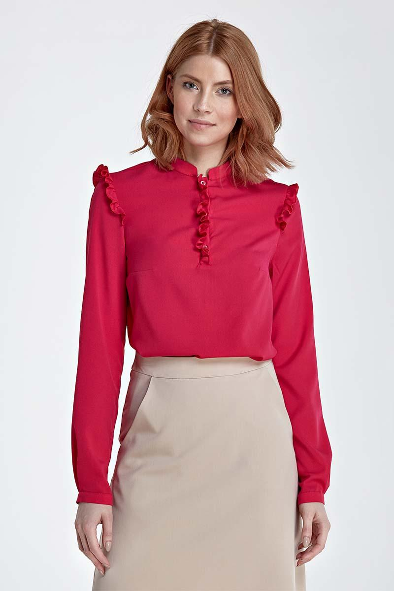 Fuchsia Shirt with Frills