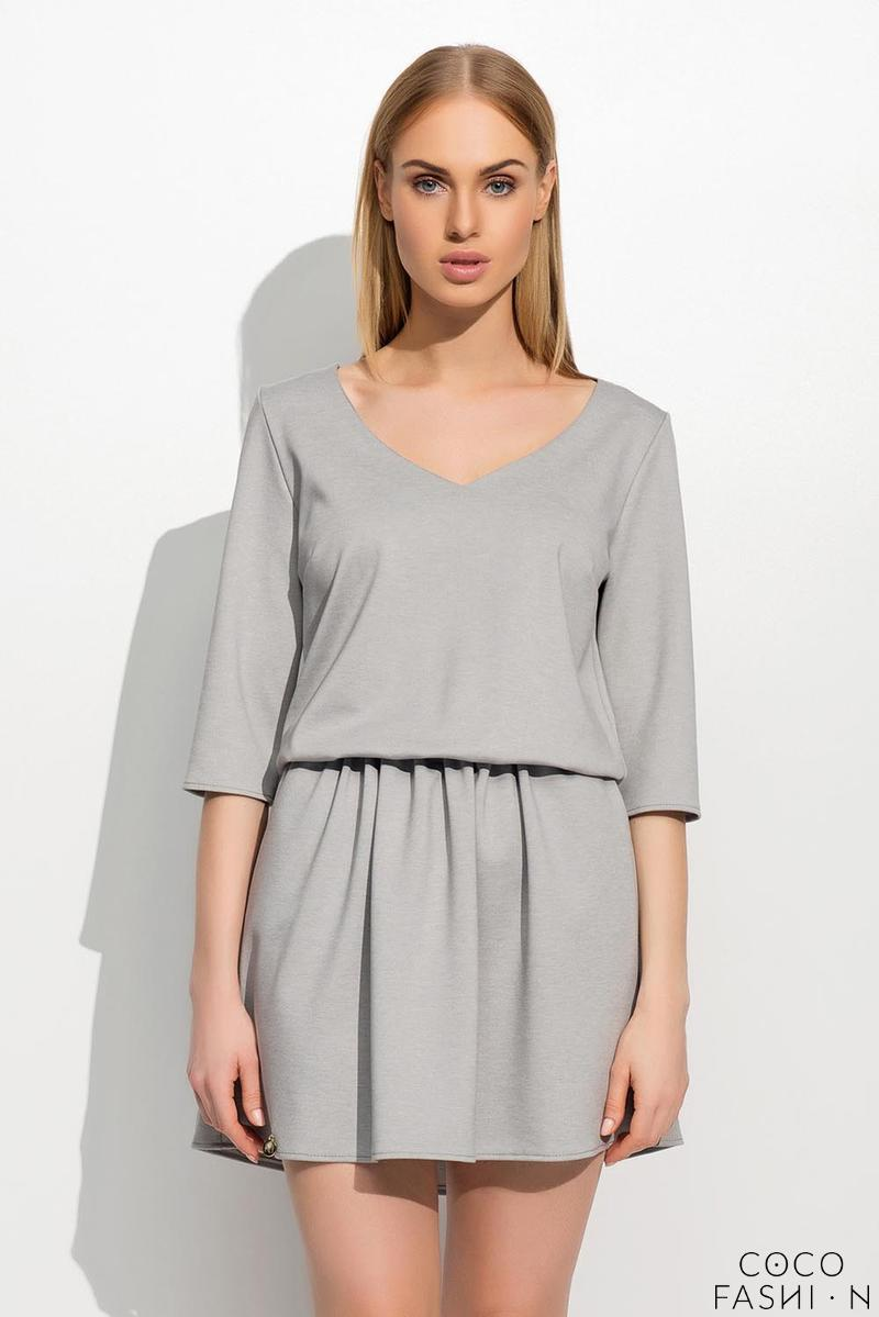 grey-wrinkled-waist-mini-dress