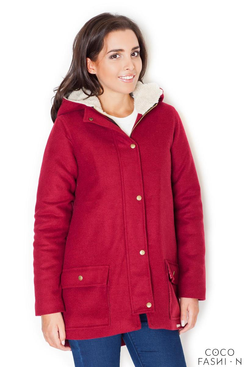 red-winter-hooded-snaps-closure-parka-jacket
