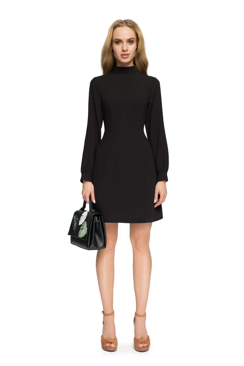 Black Mini Tourtleneck Dress
