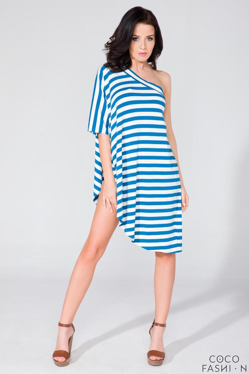 Striped Oversized Asymetrical Tunic