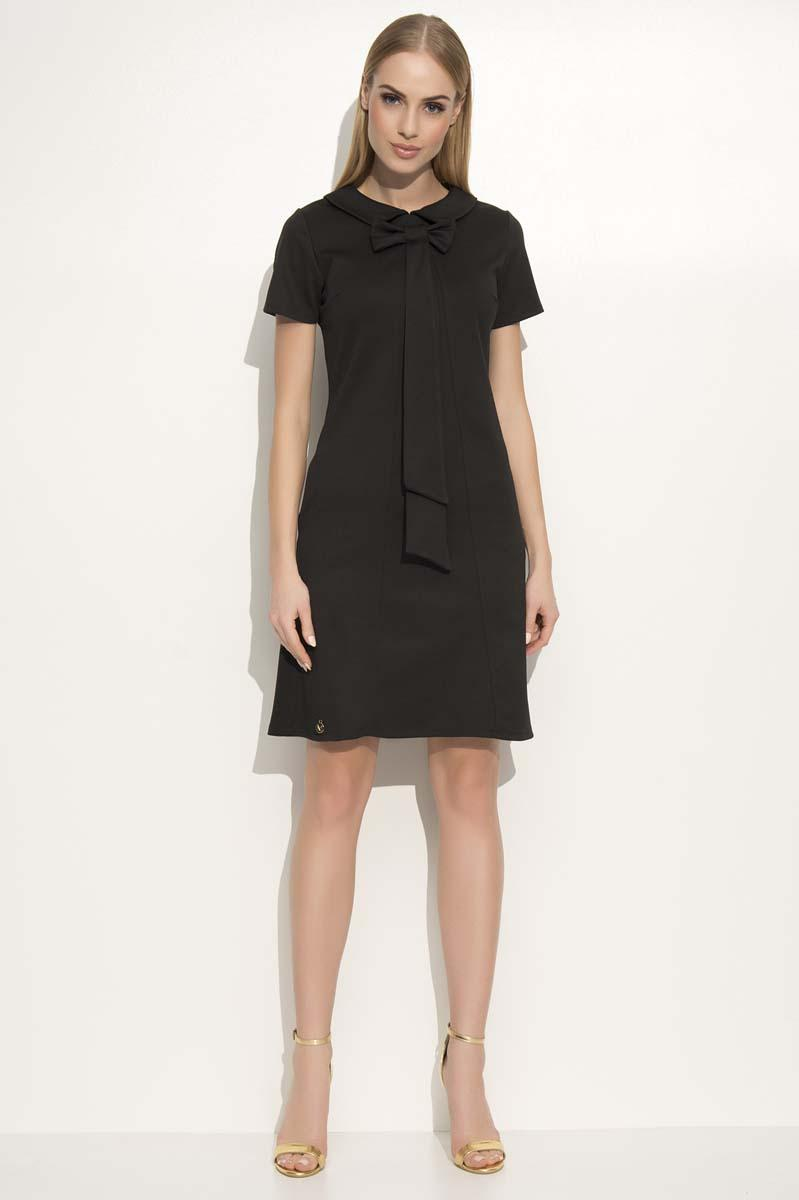 Black Dress with Collar&Bow