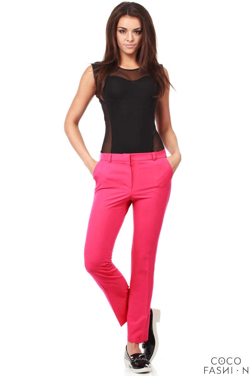 pink-trendy-mode-tapered-style-long-pants