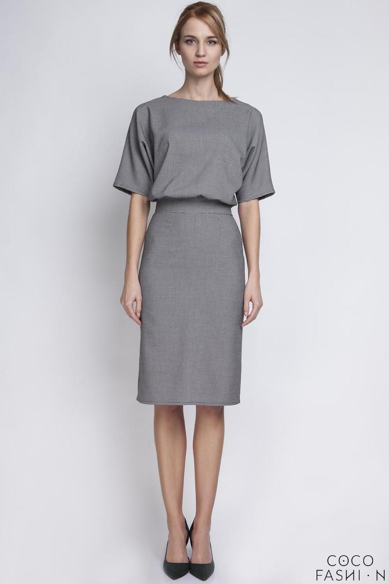 houndstooth-elegant-pencil-skirt-12-sleeves-dress