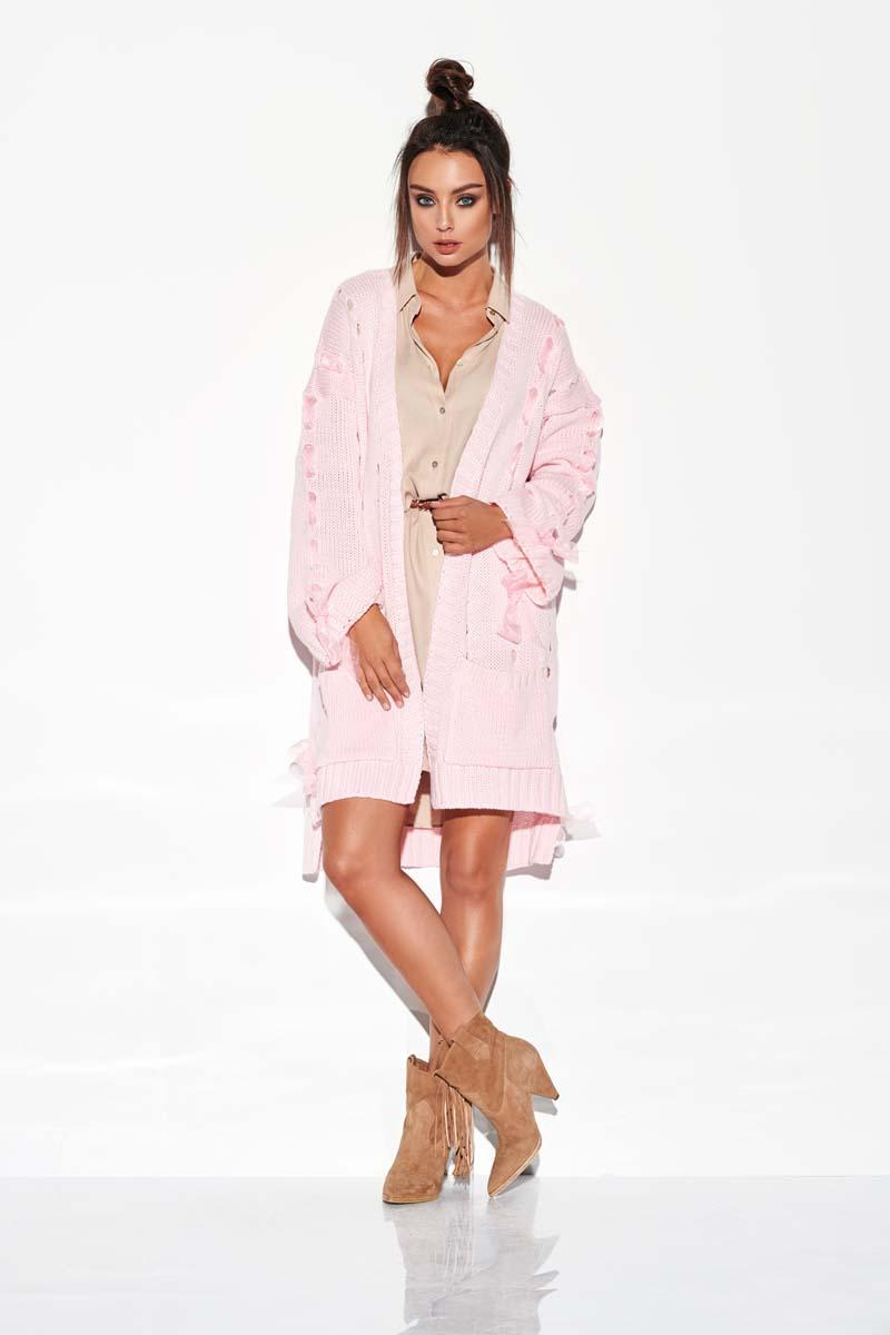 Pink Charming Cardigan with bows