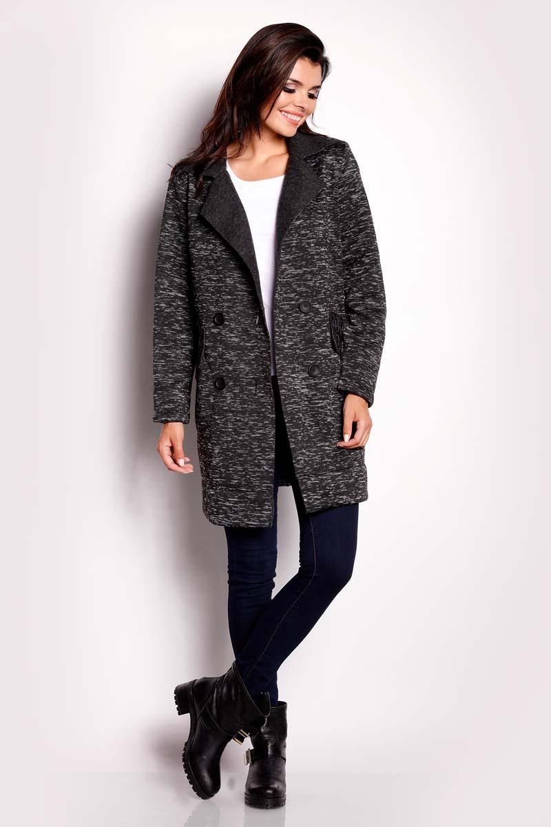 Black Doublebreasted Fall Coat