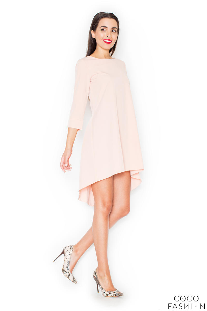pink-elegant-irregular-hem-salsa-dress