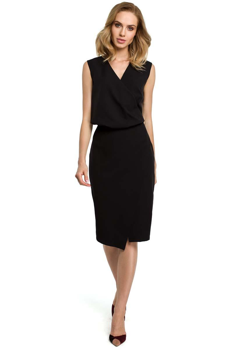 Black Elegant Pencil Sleeveless Dress