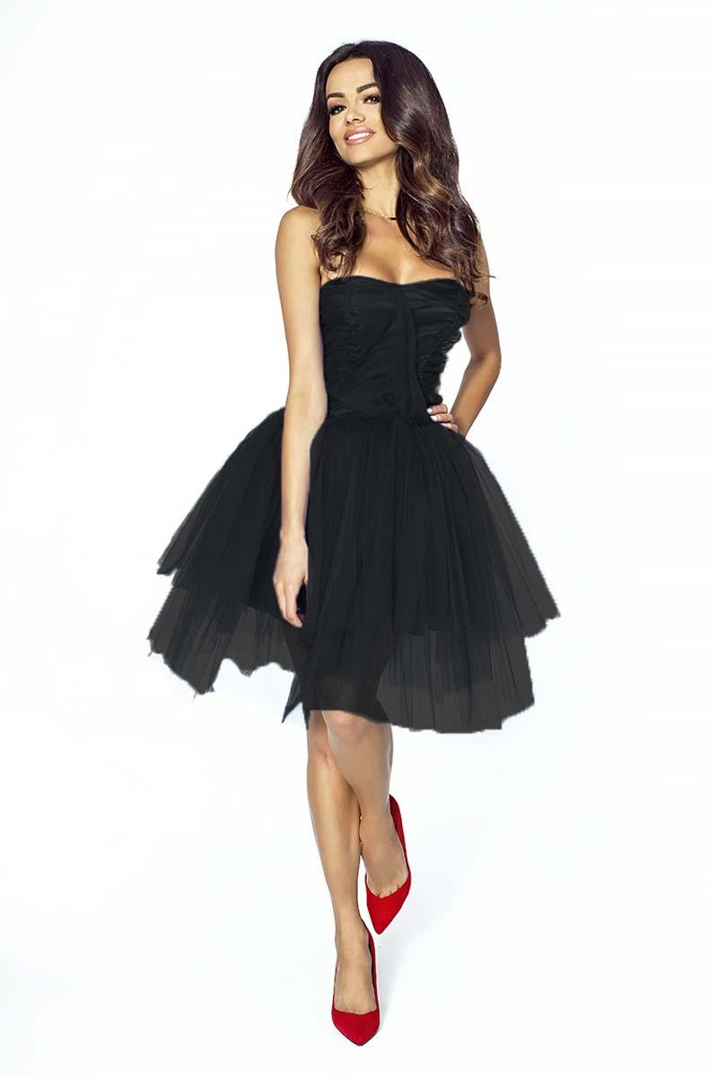 Black Prom Tulle Dress