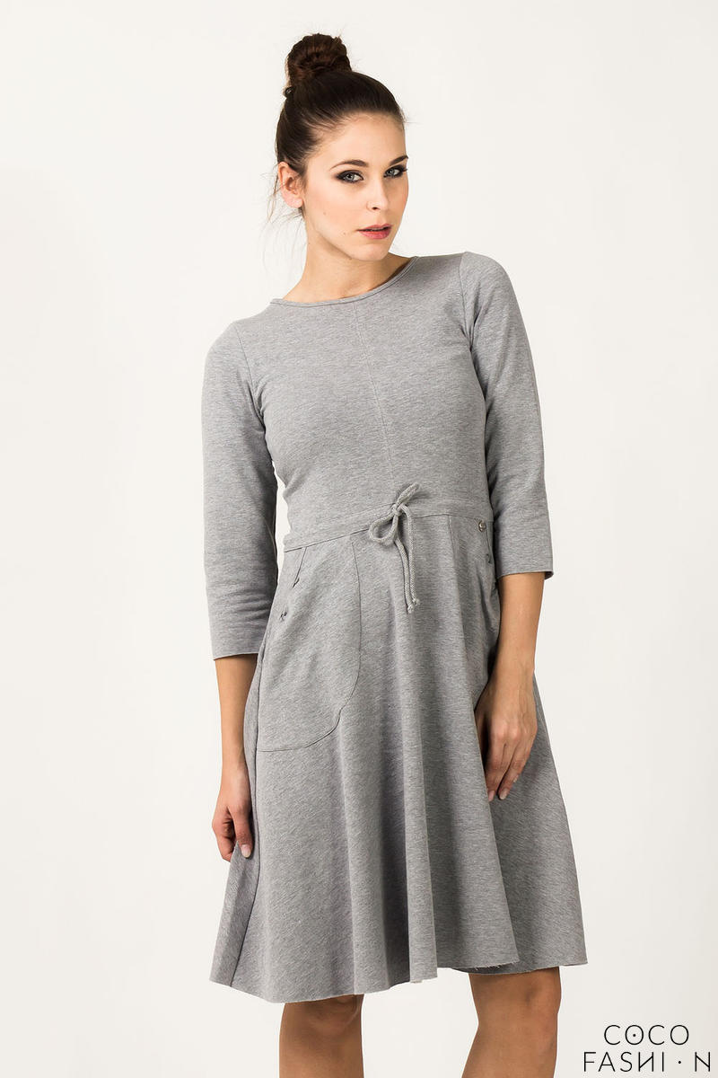 Light Grey Refreshing Humming Monk Spring Dress