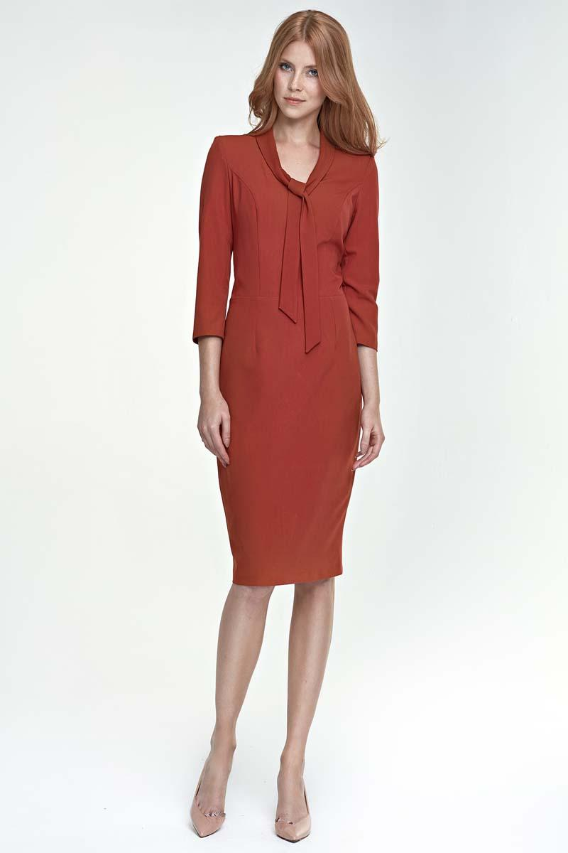 brick-red-elegant-etui-dress-with-self-tie-bow