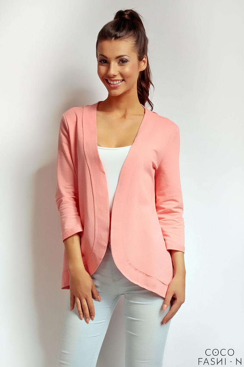 Peach 3/4 Sleeves Light Ladies Cardigan