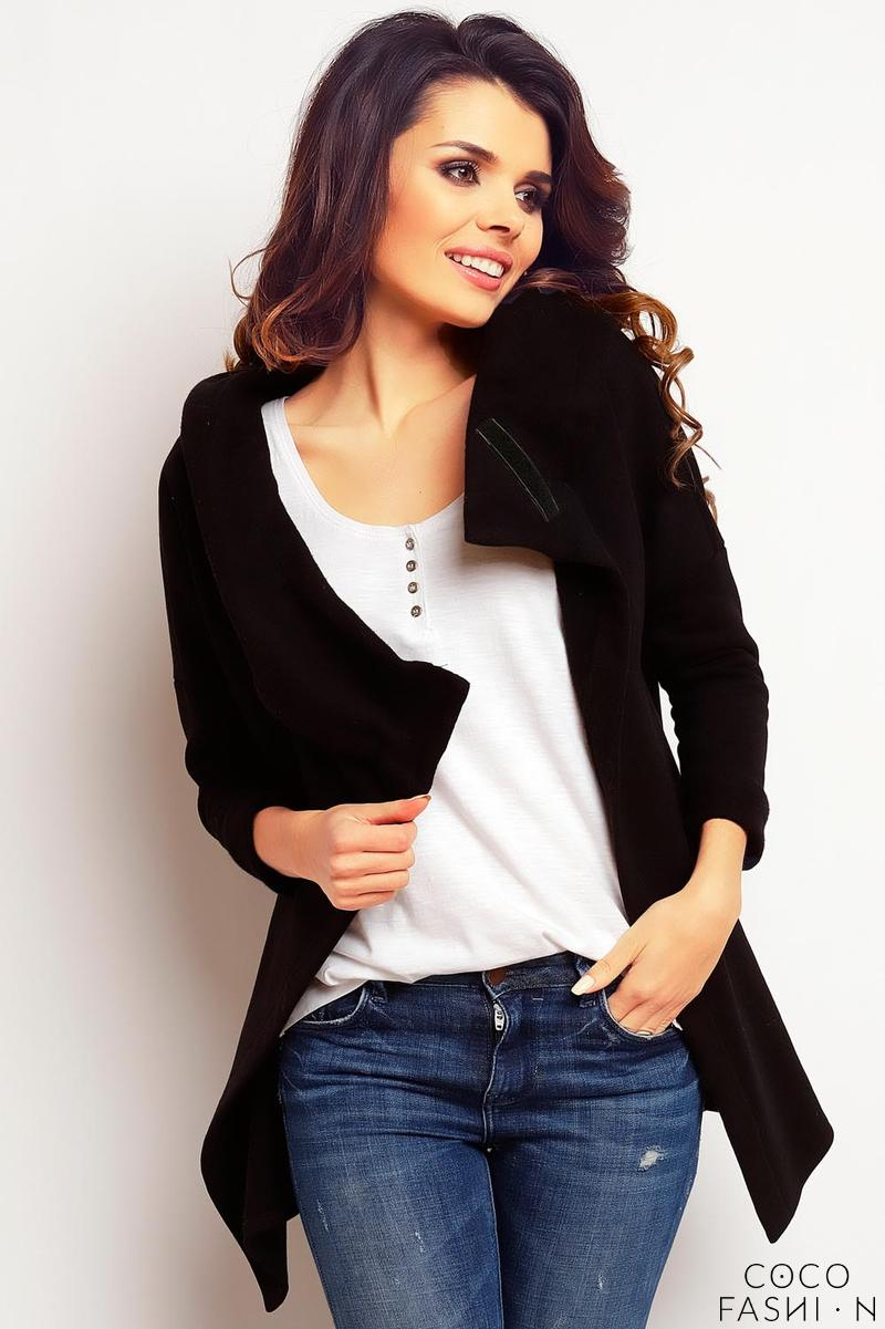 Black Stylish Big Hood Jacket