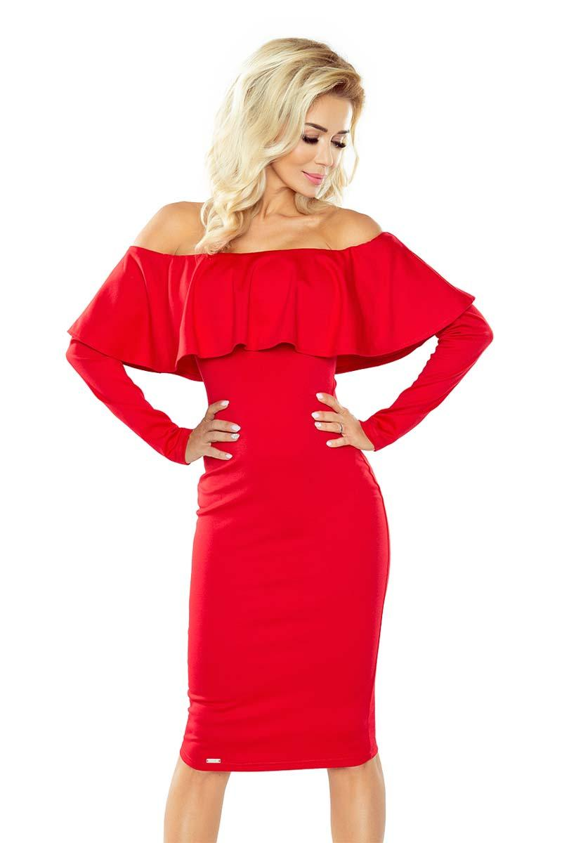red-midi-bodycon-dress-with-spain-style-neckline
