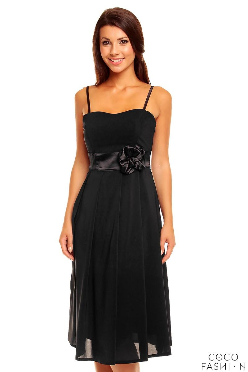 black-spaghetti-straps-coctail-dress-with-a-flower