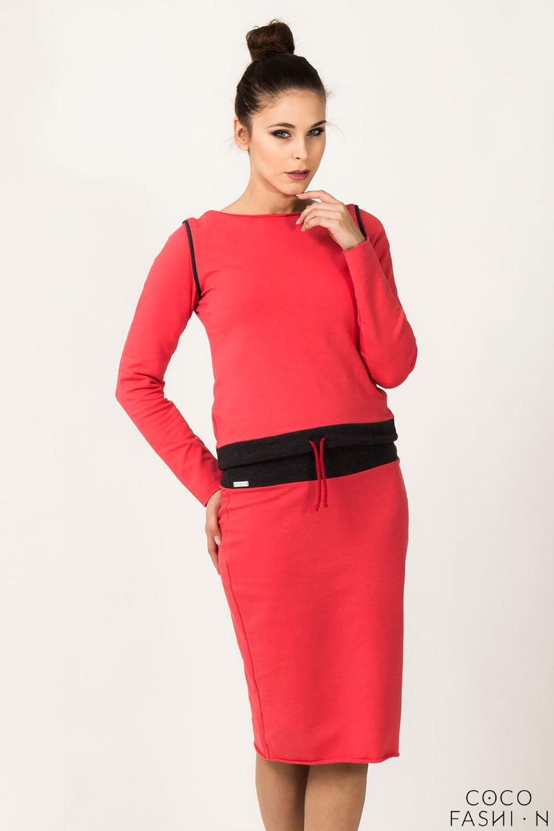 coral-fitted-sport-style-skirt