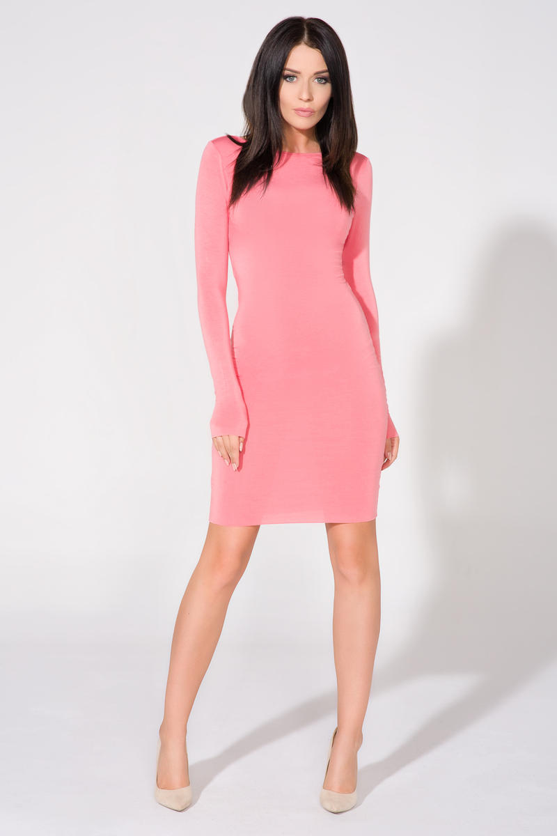 pink-bodycon-open-back-dress