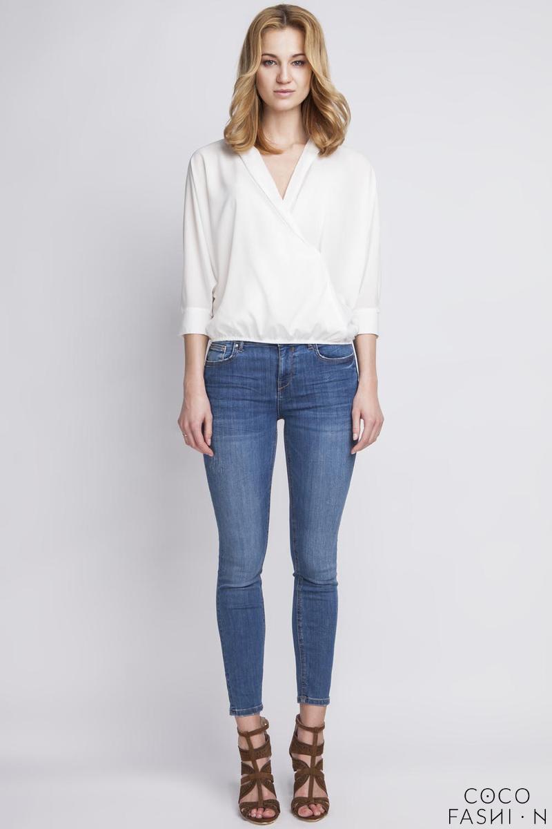 white-wrap-neckline-34-sleeves-blouse
