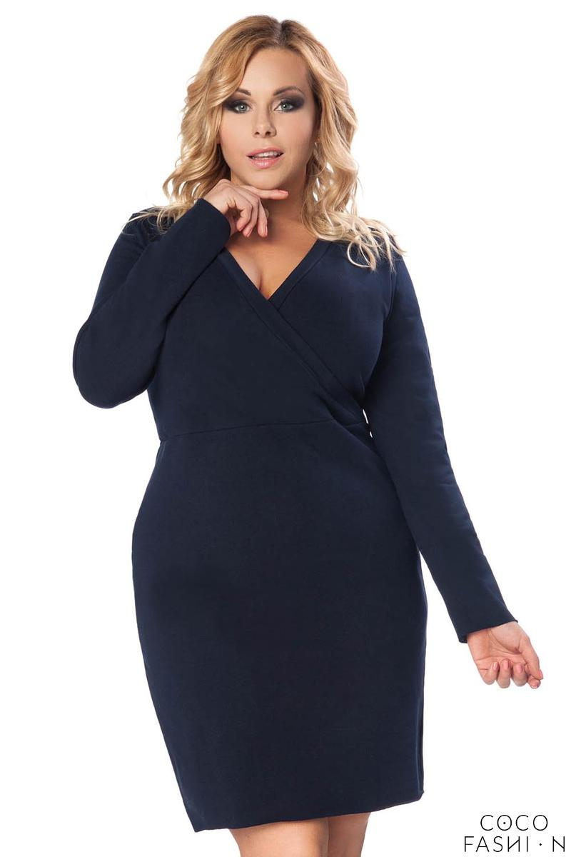 Dark Grey Long Sleeves Dress PLUS SIZE
