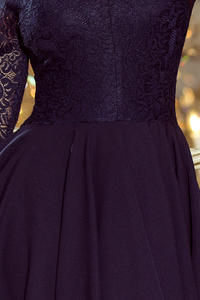 Dark Blue Evenig Lace Dress
