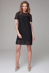 Black Classic Short Seeves Mini Dress