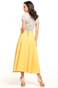 Midi Flared Skirt - Yellow