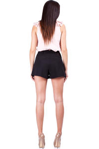 Black Shorts with Loops and Hip Pockets