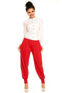 Stretchable Waist Pleated Aladin Red Pants