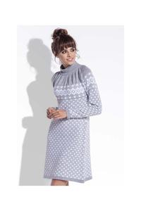 Grey Winter Style Pattern Dress