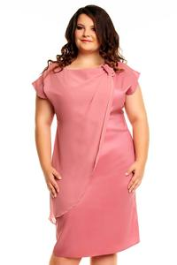 Pink Evening Short Sleeves Dress PLUS SIZE