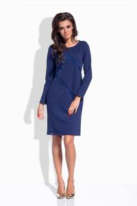 Dark Blue Classic Casual Dress
