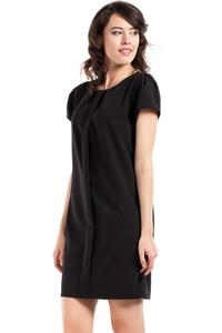 Black Simple Style Short Sleeves Dress