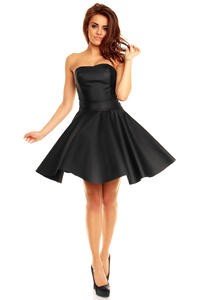 Black Sweet Heart Flippy Bandeau Dress