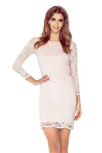 Peach Bodycon Lace Dress