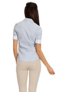 Slim Fit Seam Collared Sky Blue Shirt with Flap Chest Pocket