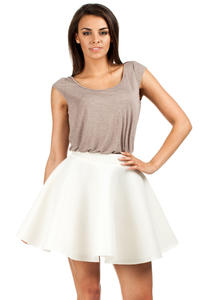 Ecru Skater Skirt with Umbrella Hemline