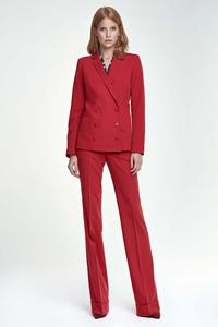 Red Doublebreasted Classic Ladies Blazer