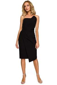 Black Asymmetrical Sleeveless Evening Dress